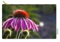 Carry-all Pouch featuring the photograph Electrified Coneflower by Lynne Jenkins