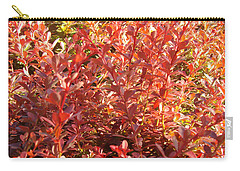 Elegant Fire Bush Carry-all Pouch