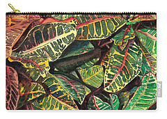 Elena's Crotons Carry-all Pouch by Marionette Taboniar