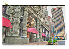 Carry-all Pouch featuring the photograph Ellicott Square Building And Hsbc by Michael Frank Jr