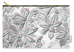 Embossed Crotons Carry-all Pouch