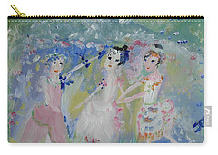 English Country Garden Ballet Carry-all Pouch by Judith Desrosiers