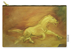 Carry-all Pouch featuring the painting Escaping The Flames by George Pedro