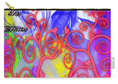 Even In Chaos Find Love Carry-all Pouch by Clayton Bruster