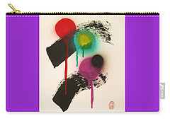 Carry-all Pouch featuring the painting Even Kings Must Come To Dust by Roberto Prusso