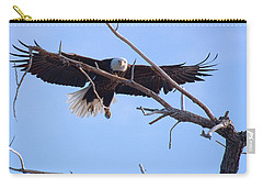 Carry-all Pouch featuring the photograph Eyes On The Prize by Jim Garrison