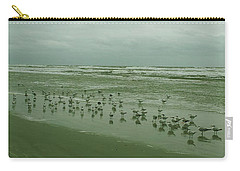 Carry-all Pouch featuring the photograph Facing The Wind by Donna Brown