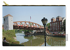 Carry-all Pouch featuring the photograph Fairport Lift Bridge by William Norton