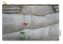 Carry-all Pouch featuring the photograph Fall Buddha #1 by Nola Lee Kelsey