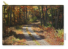 Fall On The Wyrick Trail Carry-all Pouch by Denise Romano