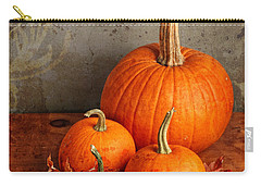 Fall Pumpkin And Decorative Squash Carry-all Pouch by Verena Matthew