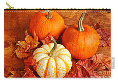 Fall Pumpkins And Decorative Squash Carry-all Pouch