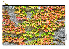 Carry-all Pouch featuring the photograph Fall Wall by Michael Frank Jr