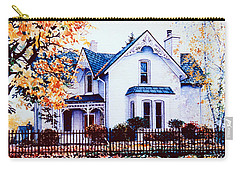 Carry-all Pouch featuring the painting Family Home Portrait by Hanne Lore Koehler