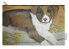Carry-all Pouch featuring the painting Fat Puppy by Norm Starks