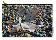 Carry-all Pouch featuring the photograph White Feather by Marilyn Wilson
