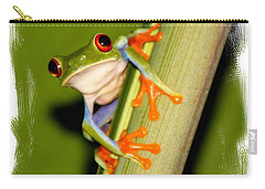 Carry-all Pouch featuring the photograph Feeling Froggy by Myrna Bradshaw