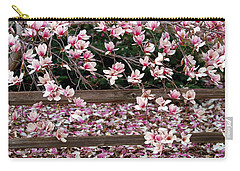Carry-all Pouch featuring the photograph Fence Of Flowers by Elizabeth Winter