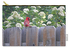 Carry-all Pouch featuring the photograph Fence Top by Elizabeth Winter
