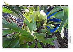 Fern With Blue Bucket Carry-all Pouch by Patricia Greer