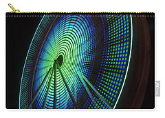 Ferris Wheel Lit Shades Of Green And Blue Carry-all Pouch