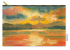 Fiery Sunset Carry-all Pouch by Julie Brugh Riffey
