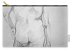Carry-all Pouch featuring the drawing Figure Study by Rory Sagner