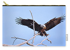Carry-all Pouch featuring the photograph Final Approach by Jim Garrison