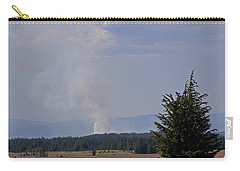 Carry-all Pouch featuring the photograph Fire In The Cascades by Mick Anderson