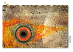 Carry-all Pouch featuring the digital art Fire Look by Rosa Cobos