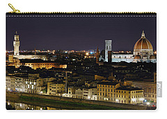Firenze Skyline At Night - Duomo And Surroundings Carry-all Pouch