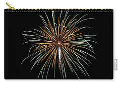 Carry-all Pouch featuring the photograph Fireworks 10 by Mark Dodd
