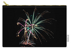 Carry-all Pouch featuring the photograph Fireworks 11 by Mark Dodd