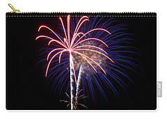 Carry-all Pouch featuring the photograph Fireworks 12 by Mark Dodd