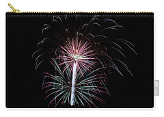 Carry-all Pouch featuring the photograph Fireworks 13 by Mark Dodd