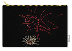 Carry-all Pouch featuring the photograph Fireworks 6 by Mark Dodd