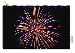 Carry-all Pouch featuring the photograph Fireworks 7 by Mark Dodd