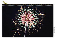 Carry-all Pouch featuring the photograph Fireworks 9 by Mark Dodd