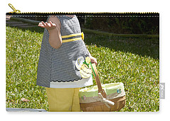 Carry-all Pouch featuring the photograph First Easter Egg Hunt by Steven Sparks