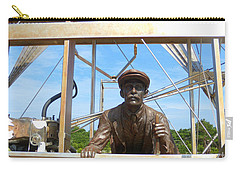 Carry-all Pouch featuring the sculpture First In Flight  by Lydia Holly