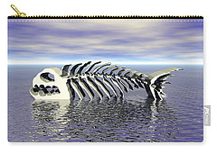 Carry-all Pouch featuring the digital art Fish Bones by Phil Perkins