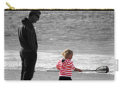 Carry-all Pouch featuring the photograph Fish With Me Daddy by Terri Waters