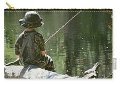 Carry-all Pouch featuring the photograph Fishin' And Wishin' by Myrna Bradshaw