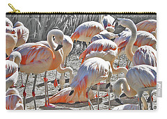 Flamingos  Carry-all Pouch by Lizi Beard-Ward