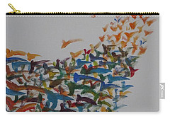 Carry-all Pouch featuring the painting Fleet Of Birds by Sonali Gangane