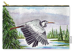 Carry-all Pouch featuring the painting Flight Of Fantasy by Clara Sue Beym
