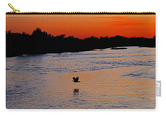 Carry-all Pouch featuring the photograph Flight Of The Turkey by Elizabeth Winter