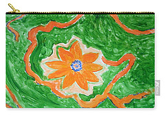 Carry-all Pouch featuring the painting Floating Flower by Sonali Gangane