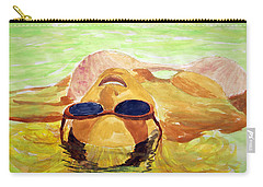 Floating In Water Carry-all Pouch by Brian Wallace