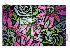 Carry-all Pouch featuring the digital art Floral Explosion by George Pedro